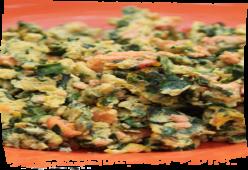 Resep Dog Food(Makanan Anjing) Bayam Dan Salmon Scramble